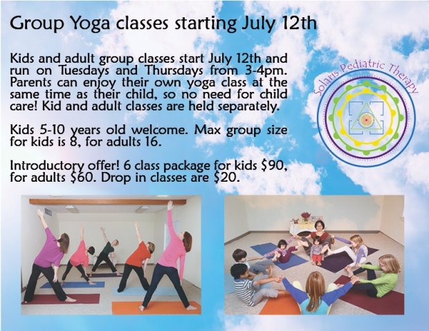 Group yoga poster